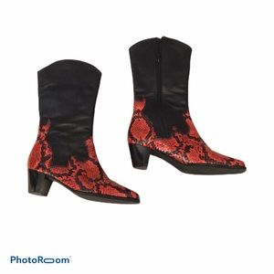 Ros Hommerson leather western boot.
